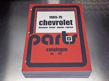65-75 IMPALA CAPRICE BELAIR BISCAYNE Master Parts Catalog Feb 1975 printing