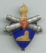 Insigne artillerie , 7 Bon. d'Ouvriers d'Artillerie   ( grenade dorée )