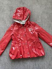 CATIMINI Red Raincoat Jacket Size 4
