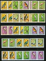 Burundi 1979 Vögel Hornrabe Ibis 1488-1496 1505-1513 U Imperf Paare MNH/ 772 RAR