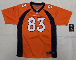 DENVER BRONCOS WES WELKER #83 YOUTH XL JERSEY NWT NFL FOOTBALL NIKE ON FIELD NEW
