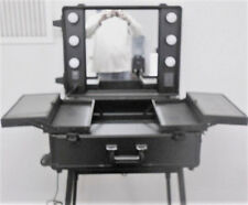 Rolling Studio - Wheeled Trolley Makeup Artist Case Lighted Station Table