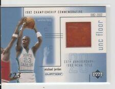 2001 Ud Ovation Michael Jordan 1982 NCAA Championship UNC Game Used Floor #MJF3