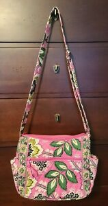 Vera Bradley Priscilla Pink Floral Bag Crossbody Purse
