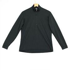 Patagonia Capilene 1/4 Zip Shirt Mens Small Black Long Sleeve Made In USA