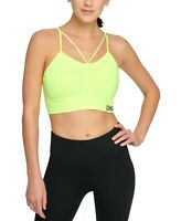Women's DKNY Sport Seamless Strappy Low-Impact Sports Bra Blue Size S Green