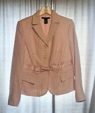 Apostrophe Women's Jacket & Skirt Suit Pink White Easter Spring Size 6/8