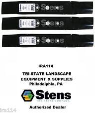 "330-619 Stens Set Of 3 Hi Lift Blade 48"" Deck Fits John Deere Gx20250, Gy20568"