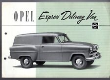 Opel Olympia Express Delivery Van c1956 Export Markets Foldout Brochure English