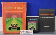Super Ferrari Atari VCS 2600 OVP (1983) mit Hülle & Anleitung