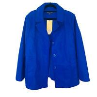 Liz Jordan BNWT Designer Collection Blue Jacket Women's Coat Size 18 RRP $199.95