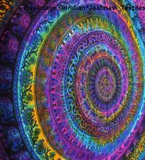 Große Hippie Mandala Tapisserie Multi Rainbow Wandbehang indische Bedsheet Throw