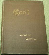 """""""Don't"""" by Censor Boudoir Edition 1891 ~ Antique Miniature Book"""