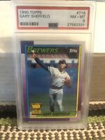 1990 Topps Gary Sheffield - All-Star Rookie Cup - Milwaukee Brewers - PSA 8
