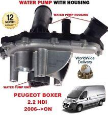 für Peugeot Boxer 2.2 HDI 2006 > nach NEU Wasserpumpe mit Gehäuse