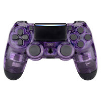 Crystal Purple Faceplate Front Housing Shell Cover For PS4 Slim Pro Controller