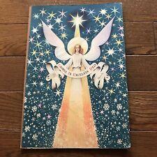Vintage Antique Kubasta Pop Up Book Nativity Xmas Scene Gloria In Excelsis Deo