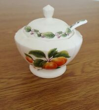 Redwood Collection Limited Edition Jam Pots W/Spoon English Bone China Apricot
