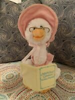 Cuddle Barn Mother Goose Animated Talking Musical Plush Toy Pink Nursery Rhymes