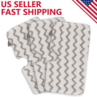 3 Pack Steam Mop Pads with Scrub Strips Microfiber Replacement Pad for Shark US