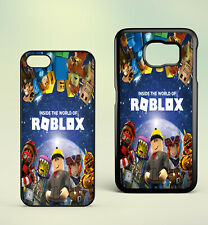 Roblox Animation Robot Gaming Kids City Samsung and iphone Plastic Phone Case