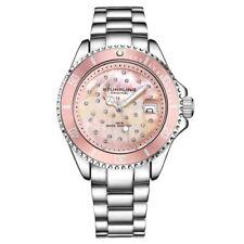 Stuhrling Original 3977 4 Quartz Crystal Accented Date Bracelet Womens Watch