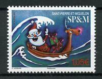 Saint-Pierre & Miquelon SP&M Christmas Stamps 2019 MNH Santa Boats 1v Set