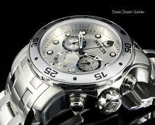Invicta 48mm ProDiver SILVER Dial Scuba Quartz Chronograph All Silver Watch 71