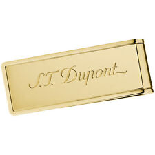 S.T. Dupont Yellow Gold PVD Money Clip With Logo, 3080 (003080), New In Box