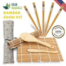 deluxe sushi making kit, 2 traditional rolling mats, 5 pair chopsticks, & More!