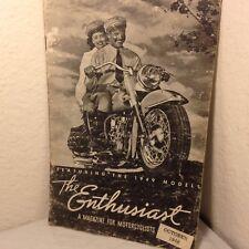 October 1948 Harley Davidson The Enthusiast Magazine