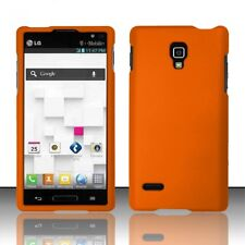 For LG Optimus L9 Rubberized HARD Protector Case  Phone Cover Orange