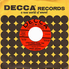 """HENRY JEROME - LOVE THEME FROM THE CARPETBAGGERS + THE SEVENTH DAWN 7"""" SG USA"""
