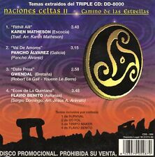 "GWENDAL - KAREN MATHESON - FLAVIO BENITO ""NACIONES CELTAS 2"" SPANISH PROMO CD MX"