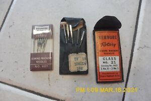 NOS LOT OF 14 VINTAGE SEARS KENMORE ROTARY SEWING MACHINE NEEDLES 6021