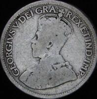 1914 Good+ Canada Silver 10 Cents - KM# 23 - JG
