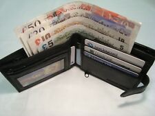 Soft Leather Wallet With Large ZIPPED Coin Pocket With Card and Note Space 1180