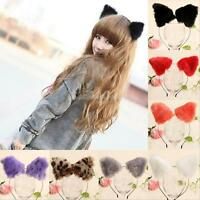 Fashion Women Girl Cat Fox Ears Long Fur Headband Anime Cosplay Party Costume