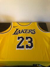 215409fb7 Nike Icon Los Angeles Lakers Lebron James Jersey Gold Home Swingman LAL CA