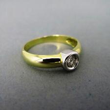 P1 Gute Solitäre Echte Diamanten-Ringe für Damen