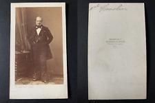 Disdéri, Paris, Amiral Ferdinand Hamelin Vintage cdv albumen print CDV, tirage
