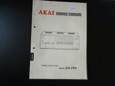 Original Service Manual Schaltplan Akai GX-F95