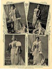 Die ungarischen Magnatinnen in Nationaltracht  Bilddokument von 1900