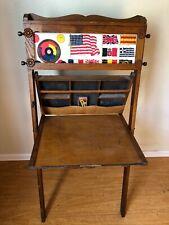 Antique Childs Desk/Easel Solid Oak With Chalk Board