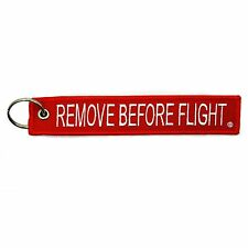 Remove Before Flight Key Chain Red & White aviation truck motorcycle pilot