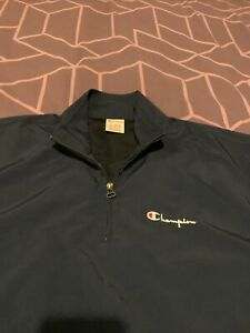 Champion 1/4 Zip Track Top Size XL