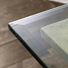 "48x84"" Rectangle Clear Tempered Glass Table Top 1/2"" Bevel Edge"