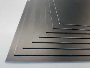 Plastic Sheet 2mm Black High Impact Polystyrene HIPS A5-A3 Matt/Matt finish