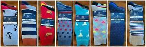 Men's George Fashion Knit Crew Socks Pack of 3 Fits Shoe Size 6-12 Many Designs