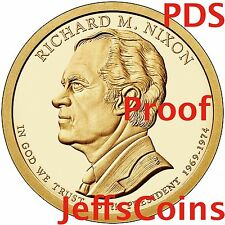2016 P D S Richard Nixon Presidential Golden Dollars Best Proof PDS 3 Coins 16PG